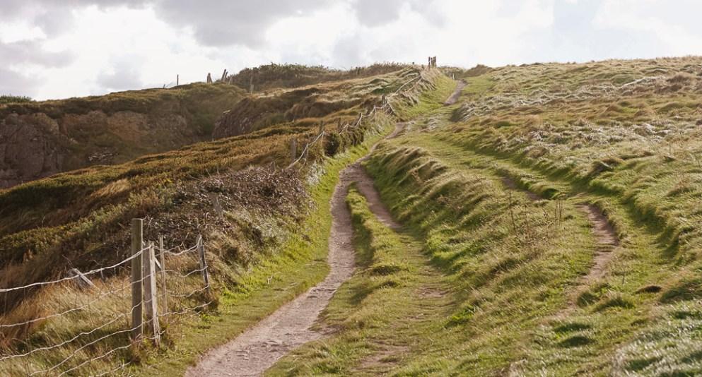 Ardmore Cliff Walk in Ireland