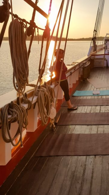 Yoga on the Victory Chimes - Maine Windjammer Assocation