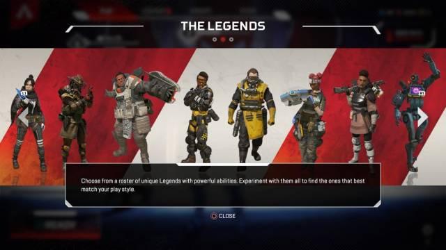 Apex Legends Character Lineup