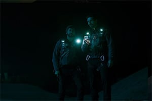 cas anvar and steven strait in the expanse