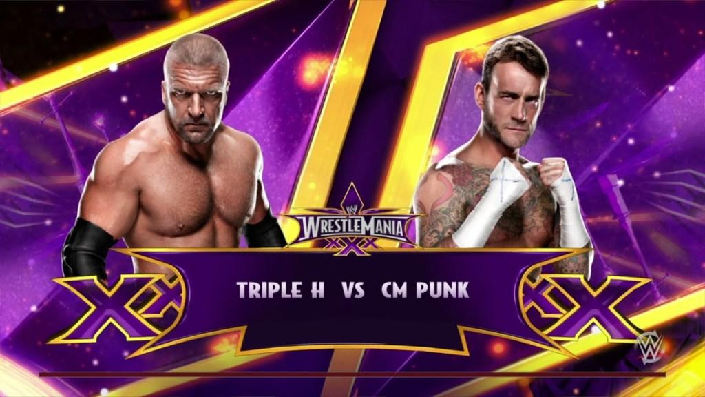 Triple H vs. CM Punk