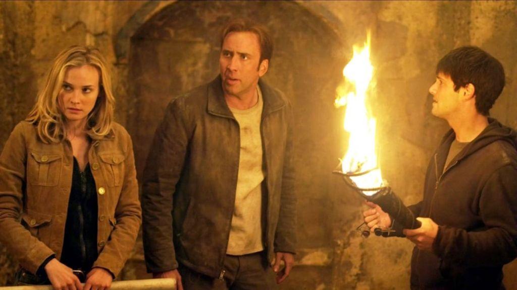 National Treasure Nicolas Cage and Flames