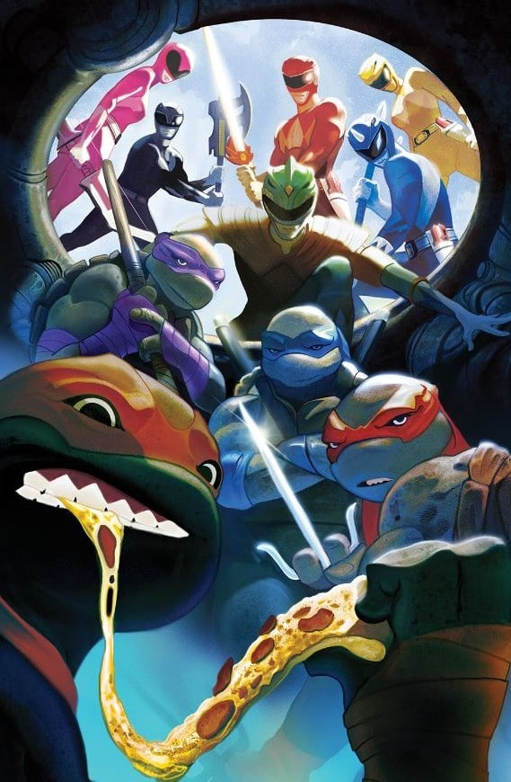 Power Rangers Ninja Turtles Variant Cover