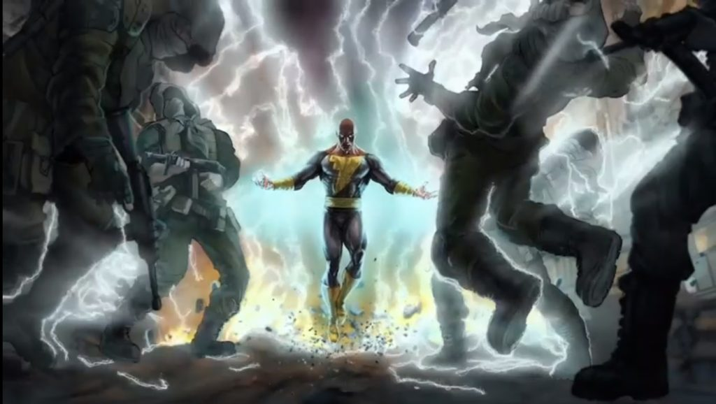 Black Adam Electricity Attack