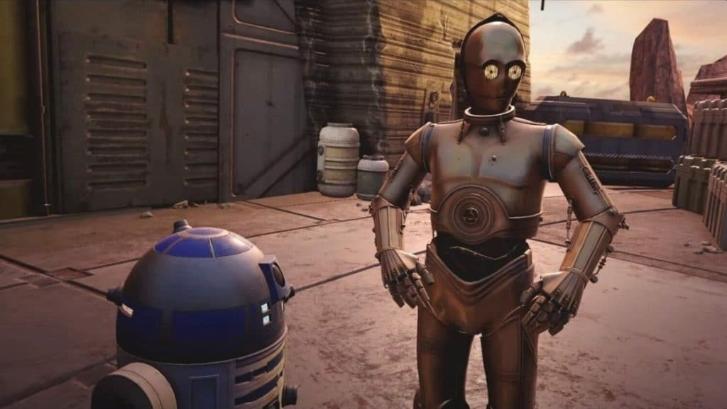 Star Wars: Tales from the Galaxy's Edge R2D2 and C3PO