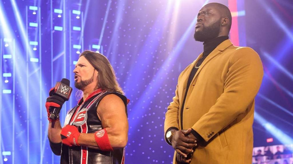 WWE AJ Styles and Omos