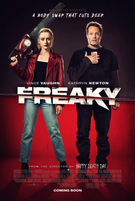 Freaky movie poster Kathryn Newton Vince Vaughn