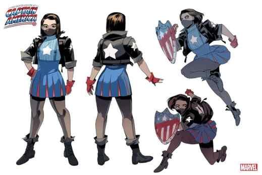 Marvel Captain America poses