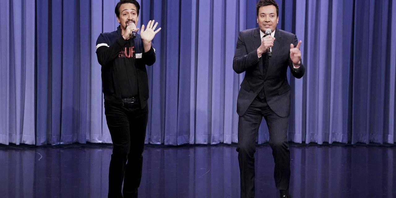Jimmy Fallon and Lin Manual Miranda Welcome Back Broadway