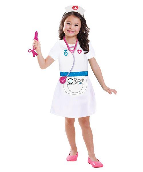 CLASSIC NURSE VET DOCTOR COSTUME SET- girls kids childs ...