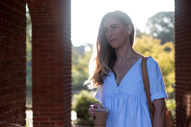 morning light blue dress