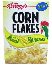 Corn Flakes With Real Bananas