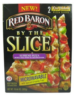 Review Red Baron Supreme Pizza By The Slice The