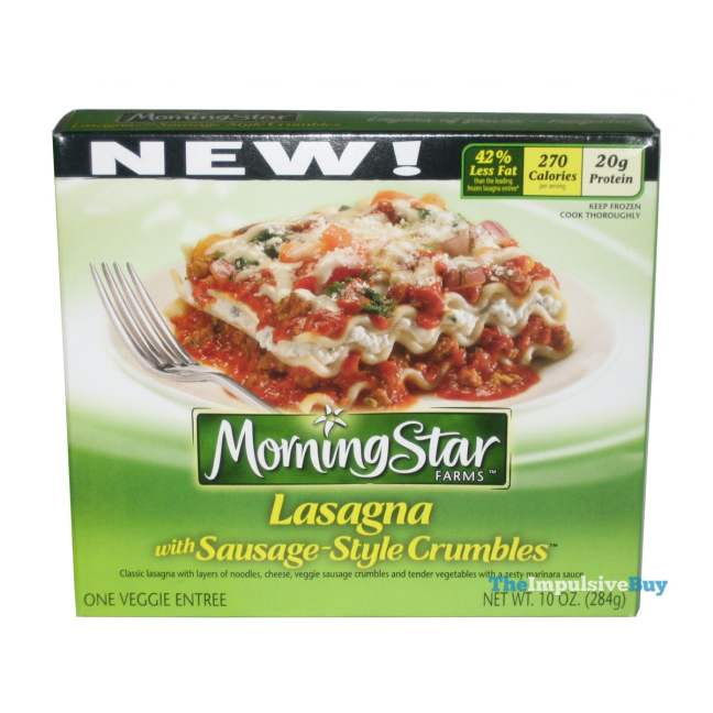 MorningStar Farms Lasagna with Sausage-Style Crumbles