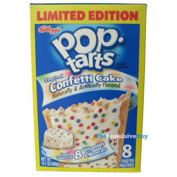 Limited Edition Frosted Confetti Cake Pop-Tarts