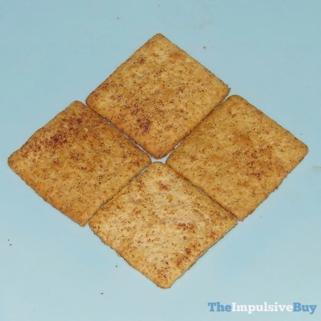 Limited Edition Wheat Thins Sweet Cinnamon Crackers Closeup