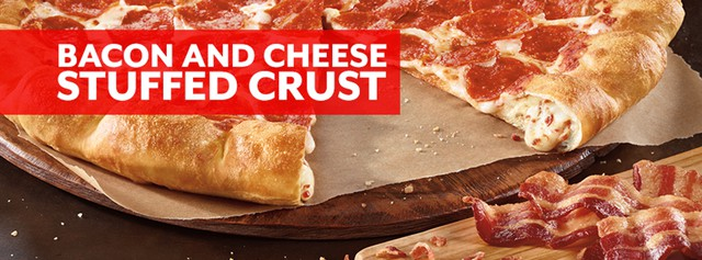 Pizza Hut Bacon and Cheese Stuffed Crust Pizza