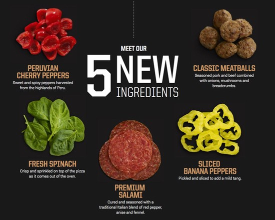 Pizza Hut Flavor of Now Ingredients