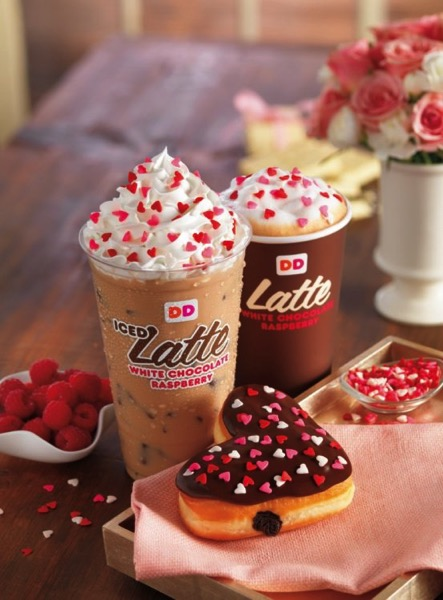 Dunkin Donuts new White Chocolate Raspberry Coffee and Lattes
