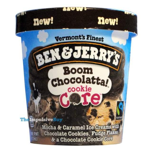 Ben & Jerry's Boom Chocolatta Cookie Core Ice Cream
