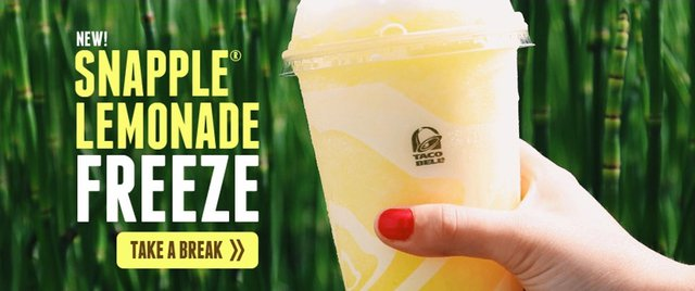 Taco Bell Snapple Lemonade Freeze