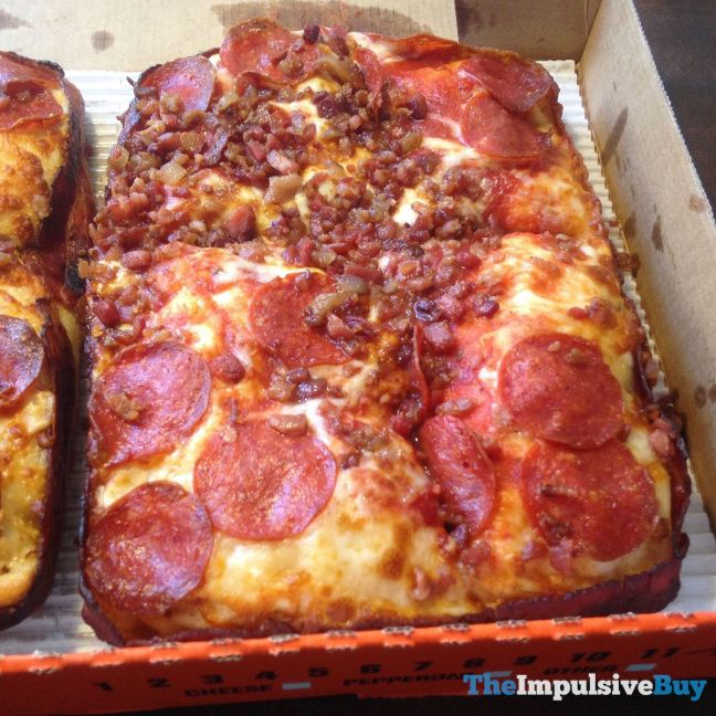 Little Caesars Bacon Wrapped Crust DEEP! DEEP! Dish Pizza Top