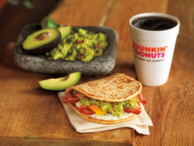 Dunkin Donuts Bacon Guacamole Flatbread Sandwich