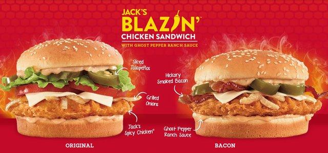 Jack in the Box Jack s Bacon Blazin Chicken Sandwich