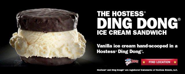 Carl s Jr Hostess Ding Dong Ice Cream Sandwich