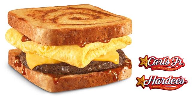 Cinnamon FrenchToas BreakfastSandwich both logos