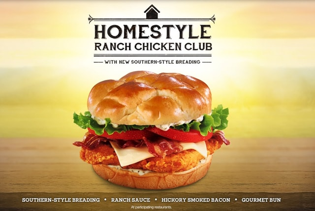 Jack in the Box Homestyle Ranch Chicken Club