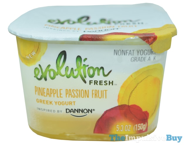 Evolution Fresh Inspired by Dannon Pineapple Passion Fruit Greek Yogurt