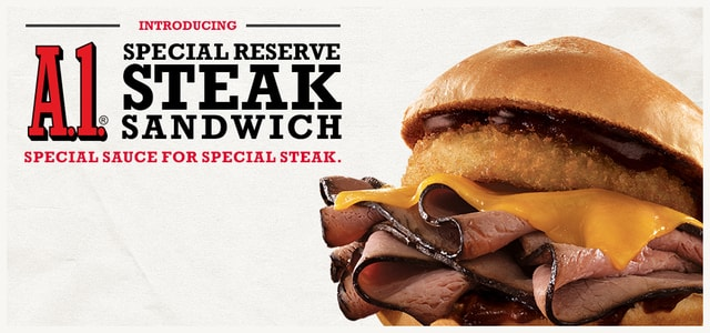 Arby s A 1 Special Reserve Steak Sandwich