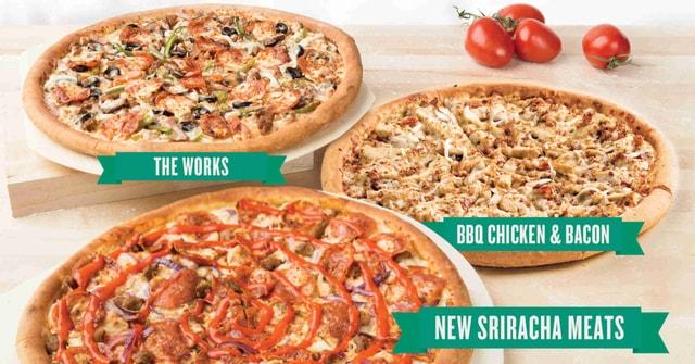 Papa John s Sriracha Meats Pizza
