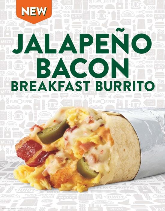 Jalapeno Bacon Breakfast Burrito