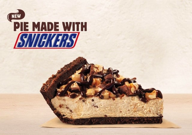 Burger King Pie Made with Snickers
