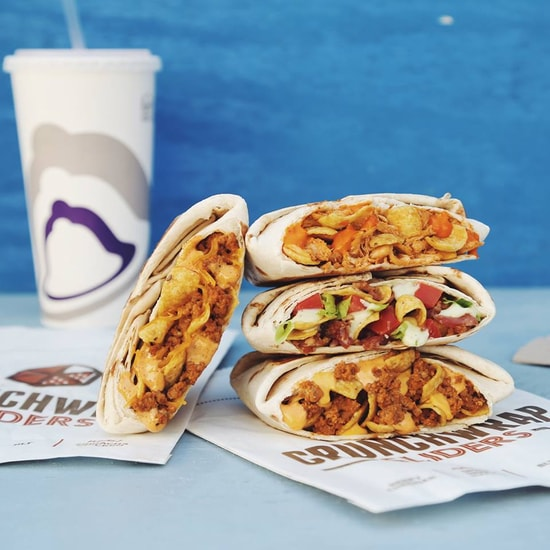 Taco Bell Sriracha Chicken and Spicy Beef Nacho Crunchwrap Sliders