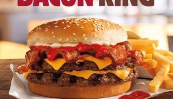 FAST FOOD NEWS Burger Kings Bacon King And Homestyle Cheeseburger
