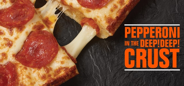 Little Caesars Pepperoni Stuffed Crust Deep Deep Dish Pizza