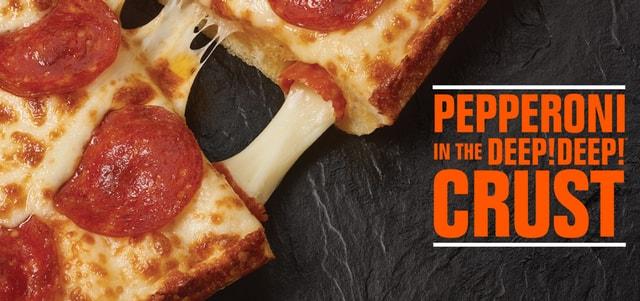 Little Caesars Pepperoni Stuffed Crust Deep Deep Dish Pizza
