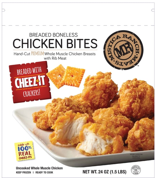 Mistica Foods Cheez It chicken breast bites