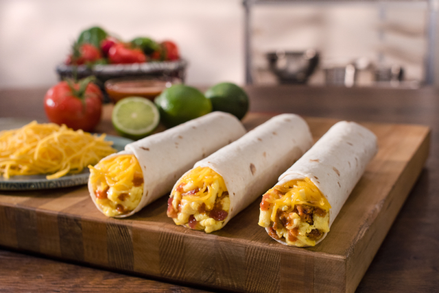 Del Taco Breakfast Rollers