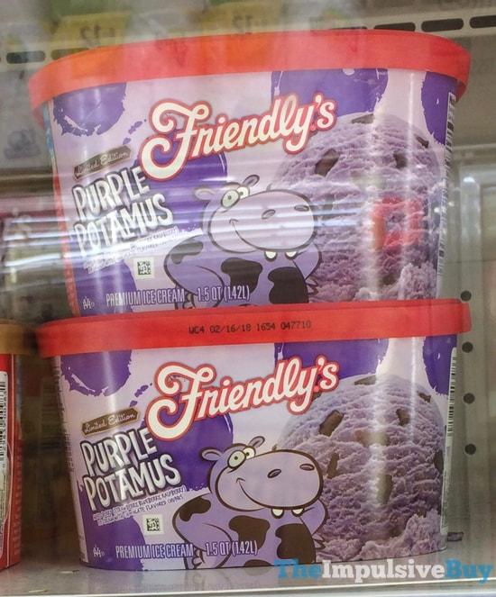 Friendly s Limited Edition Purple Potamus Ice Cream