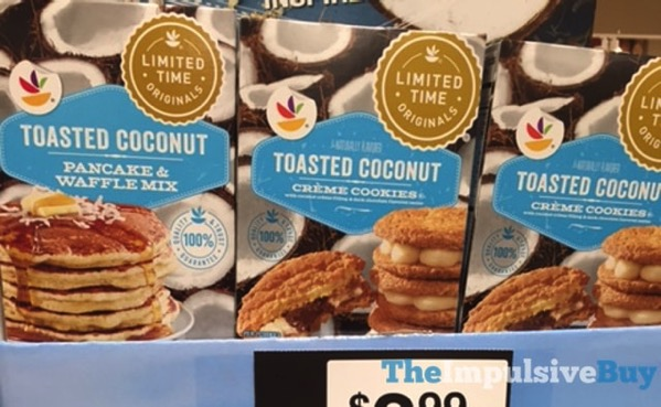 Giant Limited Time Originals Toasted Coconut Pancake  Waffles Mix and Creme Cookies