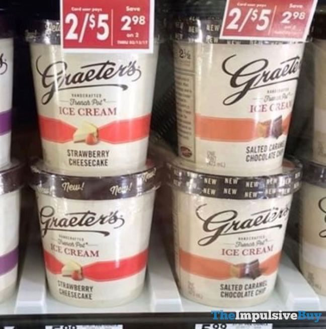 Graeter's Strawberry Cheesecake and Salted Caramel Chocolate Chip Ice Creams
