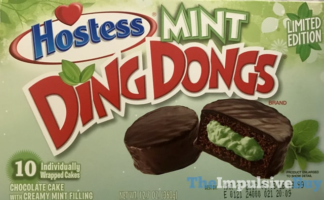 Hostess Limited Edition Mint Ding Dongs