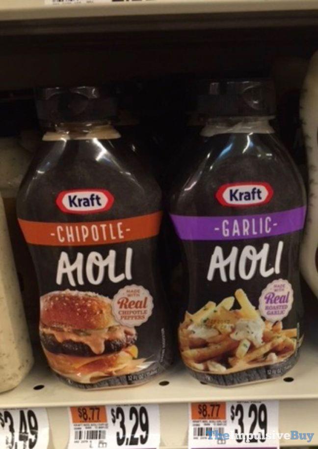 Kraft Chipotle Aioli and Garlic Aioli