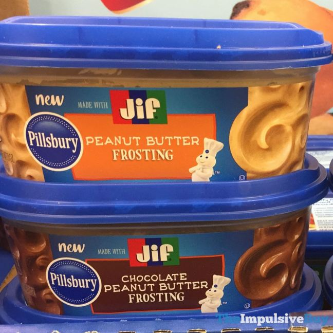 Pillsbury Jif Peanut Butter Frosting and Chocolate Peanut Butter Frosting