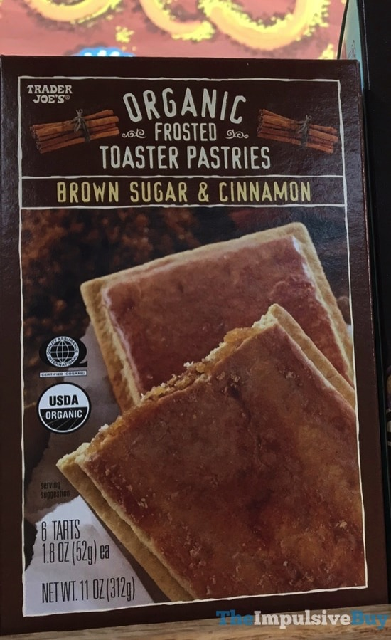 Trader Joe s Organic Brown Sugar  Cinnamon Frosted Toaster Pastries