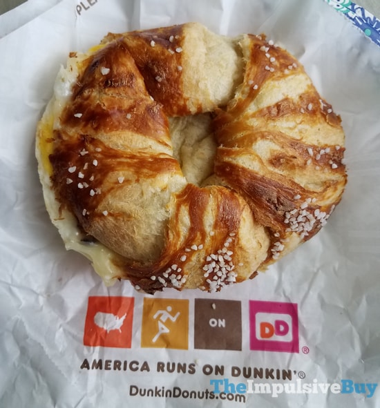 Dunkin Donuts Pretzel Croissant Breakfast Sandwich